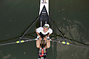 Daniele Gilardoni, athlete of Canottieri Milano (rowing club) and winner of 10 Rowing World Championships, poses on a single scull during a break of training along Naviglio Grande (canal) in Milan, April, 2011. © Carlo Cerchioli ..Daniele Gilardoni, atleta della Canottieri Milano e vincitore di 10 titoli mondiali di canattoggio, posa su un'imbarcazione di singolo in una pausa dell'allenamento lungo il Naviglio Grande, Milano aprile 2011.