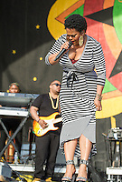 Jill Scott performs at the 2013 New Orleans Jazz and Heritage Festival on April 27, 2013 in New Orleans, LA.