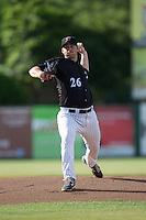 Kannapolis Intimidators starting pitcher Johnathan Frebis (26) in action against the Augusta GreenJackets at Intimidators Stadium on May 30, 2016 in Kannapolis, North Carolina.  The GreenJackets defeated the Intimidators 5-3.  (Brian Westerholt/Four Seam Images)