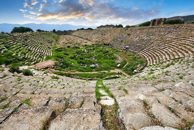 Roman ruins of the circus stadium of Aphrodisias Archaeological Site, Aydin Province, Turkey.