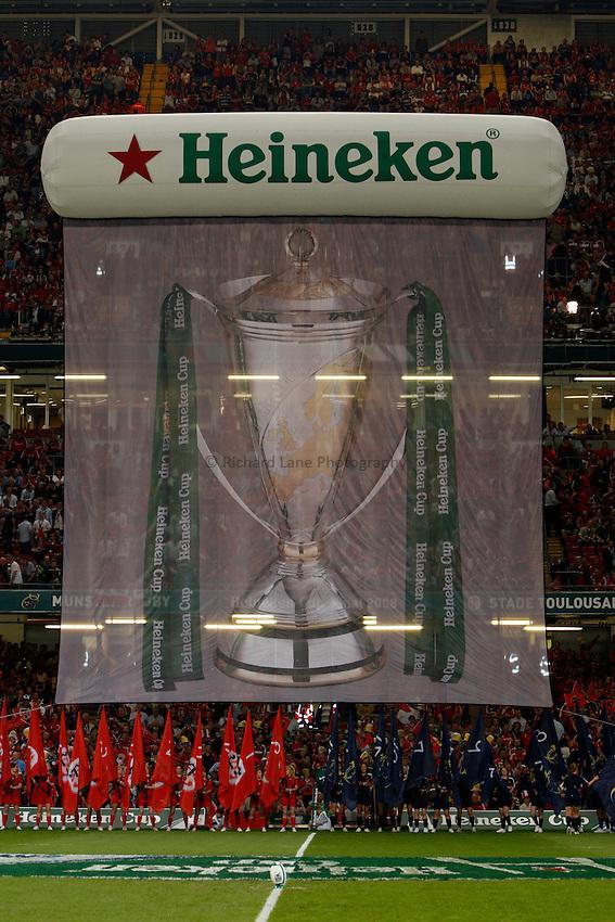 Photo: Richard Lane/Richard Lane Photography. .Munster v Toulouse. Heineken Cup Final. 24/05/2008. .Heineken Cup banner at the Millennium Stadium.