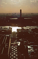 London:  7.  Panoramic view from St. Paul's--due South.  Sir Giles Gilbert Scott's Bankside Power Station.  Photo '90.
