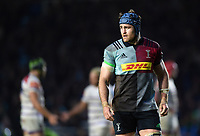 James Horwill of Harlequins looks on during a break in play. Gallagher Premiership match, between Harlequins and Leicester Tigers on May 3, 2019 at the Twickenham Stoop in London, England. Photo by: Patrick Khachfe / JMP