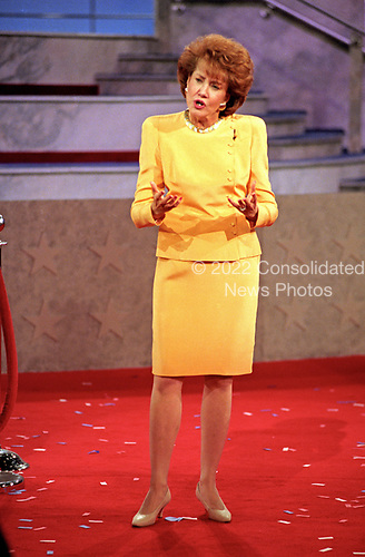 Former United States Secretary of Labor Elizabeth Hanniford Dole speaks at the 1996 Republican National Convention at the San Diego Convention Center in San Diego, California on August 14, 1996.  <br /> Credit: Ron Sachs / CNP