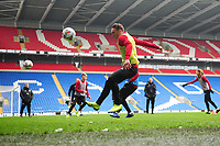 Connor Roberts of Wales in action during the Wales Training Session at the Cardiff City Stadium in Cardiff, Wales, UK. Thursday 15 November 2018
