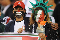 EAST RUTHERFORD, NJ - SEPTEMBER 6: Mexico Fans supporting the National Team during a game between Mexico and USMNT at MetLife Stadium on September 6, 2019 in East Rutherford, New Jersey.