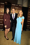 """Guiding Light's Kevin Bacon """"Tim Werner"""" (Search For Tomorrow) poses with As The World Turns' Annie Parisse """"Julia"""" and Passions' Natalie Zea """"Gwen Hotchkiss"""" as they star in """"The Following"""", Fox's new tv series on Mondays and Kevin's first tv series, which held its world premiere on January 19, 2013 at the New York Public Library, New York City, New York. The characters they play are: Kevin - FBI agent """"Ryan Hardy"""", Annie - (Kevin's) right hand FBI agent """"Debra Parker"""" and Natalie - """"Claire Matthews"""" who is the love interest of """"Ryan"""" and ex-wife of """"serial killer"""" James Purefoy. (Photo by Sue Coflin/Max Photos)"""