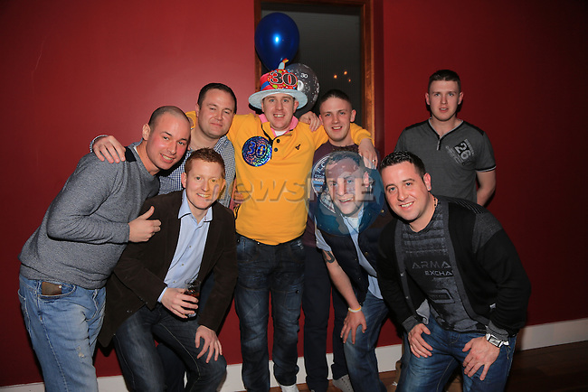 Paul McGuinness celebrating his 30th in Bru with his friends.Picture: Fran Caffrey / www.newsfile.ie ..
