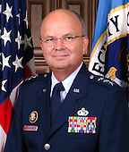 Crawford, Texas - May 7, 2005 --  General Michael V. Hayden, United States Air Force, currently the Principal Deputy Director of National Intelligence is expected to be named by United States President George W. Bush as Driector of the Central Intelligence Agency (CIA) to succeed Porter Goss, who resigned on May 5, 2006.   This file photo was taken on February 23, 2005.  Lieutenant General Hayden was Director, National Security Agency (NSA), and Chief, Central Security Service (CSS), Fort George G. Meade, Maryland.  The NSA/CSS is a combat support agency of the United States Department of Defense (DoD) with military and civilian personnel stationed worldwide. He was DoD's senior uniformed intelligence officer.<br /> Credit: U.S. Air Force via CNP