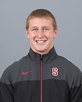 STANFORD, CA - SEPTEMBER 24, 2014--Thomas Kimbrell, with Stanford University Men's Wrestling.
