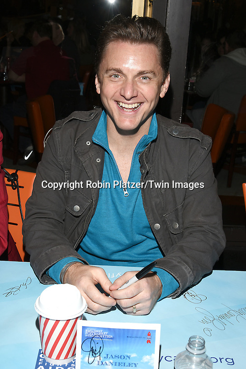 Jason Danieley attends the Broadway Cares/Equity Fights Aids Flea Market and Grand Auction on September 25, 2016 at the Music Box Theatre and in Shubert Ally in New York, New York, USA. <br /> <br /> photo by Robin Platzer/Twin Images<br />  <br /> phone number 212-935-0770