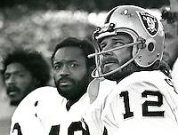 Raiders Jack Tatum, George Atkinson and Ken Stabler..Copyright Ron Riesterer