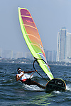 Bi Kun (CHN), <br /> AUGUST 31, 2018 - Sailing : Men's RS-X at Indonesia National Sailing Center during the 2018 Jakarta Palembang Asian Games in Jakarta, Indonesia. <br /> (Photo by MATSUO.K/AFLO SPORT)