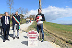 Monte Santa Maria gravel sector dedicated to 3 time winner Fabian Cancellara today, Asciano, Tuscany, Italy 3rd March 2017.<br /> Picture: LaPresse | Newsfile<br /> <br /> <br /> All photos usage must carry mandatory copyright credit (&copy; Newsfile | LaPresse)