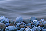 A close-up of the rocks on the shore of the Tashenshini River, Yukon, Canada