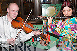 MUSICIANS BY THE FEALE: At the Launch of the Fleadh by the Feale in The Cellar Bar, Abbeyfeale, on Wednesday night were Denis Curtin, Mountcollins, and Eilish Murphy, Abbeyfeale..