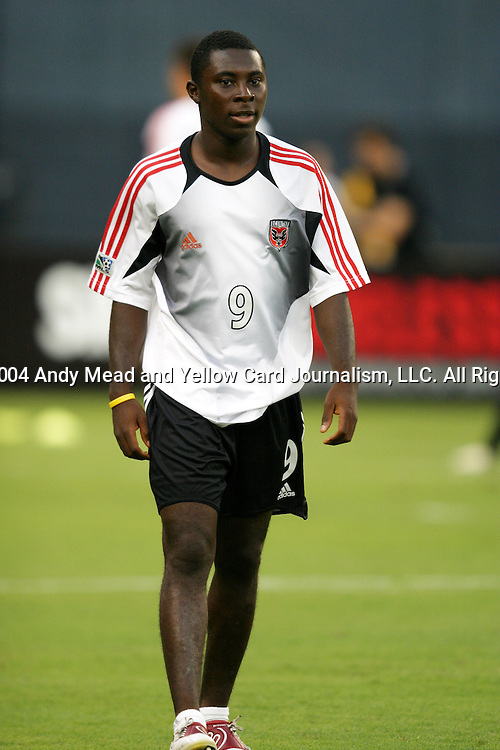 14 July 2004: Freddy Adu. DC United defeated Nottingham Forest of England First Division 4-3 on penalties after the teams played to a 1-1 draw at RFK Stadium in Washington, DC during an international exhibition match..