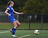 Ava Pascarella #9 of Portledge receives a pass and gets ready to shoot on goal during the PSAA varsity girls soccer championship against The Stony Brook School at Cantiague Park in Hicksville on Friday, Oct. 26, 2018. She scored twice in Portledge's 3-0 win.