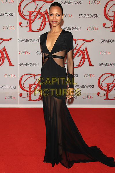 Zoe Saldana .The 2012 CFDA Fashion Awards held at Alice Tully Hall - Lincoln Center, New York, NY, USA..June 4th, 2012 .full length black sheer dress .CAP/LNC/TOM.©LNC/Capital Pictures.