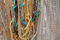 Fishing net. Honfleur, Normandy, France.