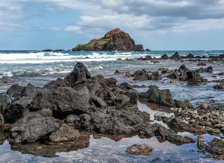Koki Beach Park, located off the Hana Highway a few miles south of Hana, Maui