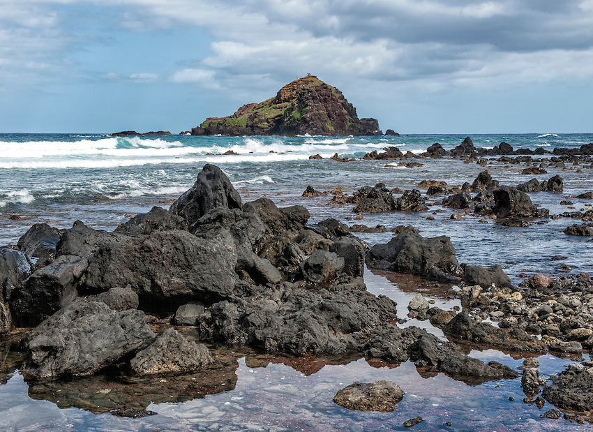 Koki Beach Park, located off the Hana Highway a few miles south of Hana, Maui