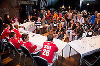 13-09-12, Netherlands, Amsterdam, Tennis, Daviscup Netherlands-Swiss, Draw , Swiss team at press-conference