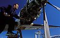 06/02/07 - AULNAT - PUY DE DOME - FRANCE - Pole de maintenance de Regional Airlines sur le tarmac de l aeroport d Aulnat - Photo Jerome CHABANNE