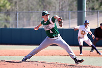 CARY, NC - FEBRUARY 23: Kevin Wiseman #4 of Wagner College throws a pitch during a game between Wagner and Penn State at Coleman Field at USA Baseball National Training Complex on February 23, 2020 in Cary, North Carolina.