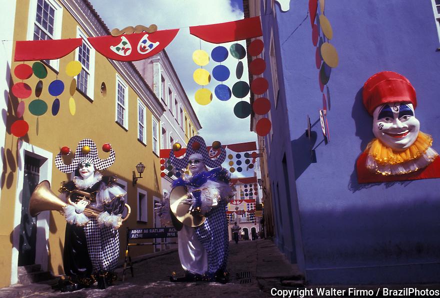 Carnival, costumes, city: Salvador, State: Bahia, Brazil.
