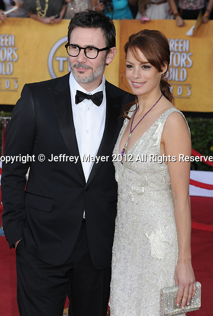LOS ANGELES, CA - JANUARY 29: Michel Hazanavicius and Berenice Bejo arrive at the 18th Annual Screen Actors Guild Awards held at The Shrine Auditorium on January 29, 2012 in Los Angeles, California.