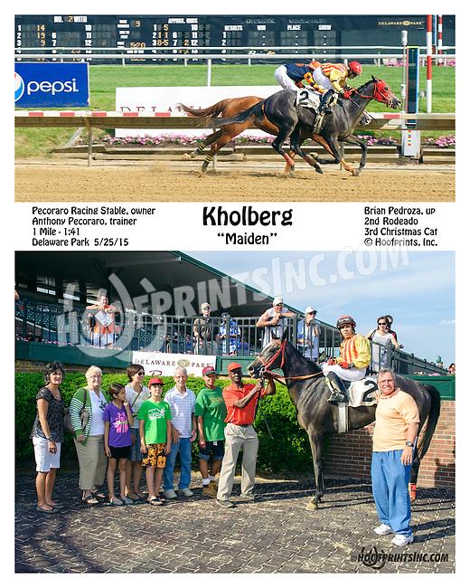 Kholberg winning at Delaware Park  on 5/25/15