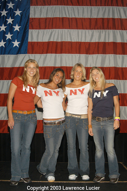 Castmembers from the MTV series Surf Girls: Jenna Grosshans, Kula Barbieto, Danielle Beck, and Mary Osbourne.