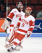 Melissa Haber (BU - 33), Jenelle Kohanchuk (BU - 19) - The Boston University Terriers defeated the Providence College Friars 5-3 on Saturday, November 14, 2009, at Agganis Arena in Boston, Massachusetts.