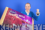 Paul Ruane who won 10.000 euro in a competition to design a wrapper for Cadbury Dairy Milk bar in association with TV3 show The Apprentice
