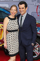 "HOLLYWOOD, LOS ANGELES, CA, USA - MARCH 11: Holly Burrell, Ty Burrell at the World Premiere Of Disney's ""Muppets Most Wanted"" held at the El Capitan Theatre on March 11, 2014 in Hollywood, Los Angeles, California, United States. (Photo by Xavier Collin/Celebrity Monitor)"