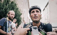 Daniele Bennati  (ITA/Movistar) interviewed after the stage<br /> <br /> 104th Tour de France 2017<br /> Stage 19 - Embrun › Salon-de-Provence (220km)