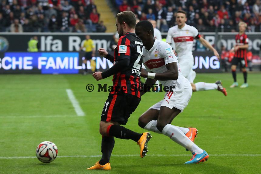 MArc Stendera (Eintracht) gegen Antonio Rüdiger (VfB) - Eintracht Frankfurt vs. VfB Stuttgart, Commerzbank Arena