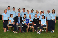 The Tullamore Team with club dignitaries, winners of the Irish Mixed Foursomes Leinster Final at Millicent Golf Club, Clane, Co. Kildare. 06/08/2017<br /> Picture: Golffile | Thos Caffrey<br /> <br /> All photo usage must carry mandatory copyright credit      (&copy; Golffile | Thos Caffrey)