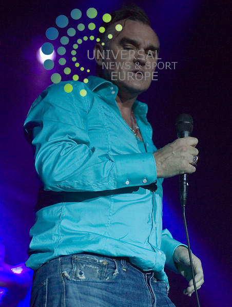 Or is it a case of big mouth strikes again as Morrissey plays two nights to adoring crowds at the Glasgow Barrowlands to coincide with the recent release of his new album Years of Refusal, well at least we just got to see the man happy! ..Picture:Peter Kaminski/Universal News and Sport (Scotland)