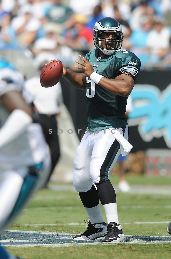 DONOVAN MCNABB,  of the Philadelphia Eagles  in action  during the Eagles   game against the Carolina Panthers in Charlotte, NC on September 13, 2009.The  Eagles beat the Panthers  38-10...SportPics..