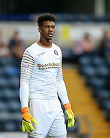 Goalkeeper Jamal Blackman of Wycombe Wanderers during the Sky Bet League 2 match between Wycombe Wanderers and Colchester United at Adams Park, High Wycombe, England on 27 August 2016. Photo by Andy Rowland.