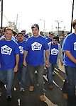 PACOIMA, CA. - October 10: Jimmy Kimmel walking at The 2009 American Dream Walk To Benefit Habitat For Humanity at Lowe's Home Improvement on October 10, 2009 in Pacoima, California.