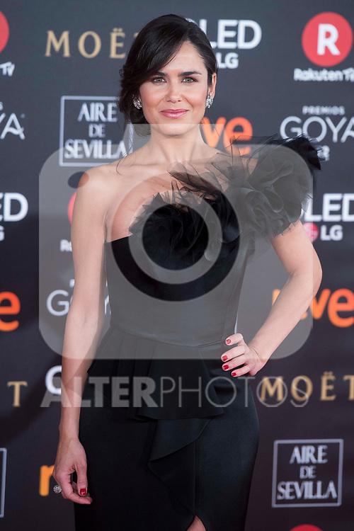 Elena Sanchez attends red carpet of Goya Cinema Awards 2018 at Madrid Marriott Auditorium in Madrid , Spain. February 03, 2018. (ALTERPHOTOS/Borja B.Hojas)