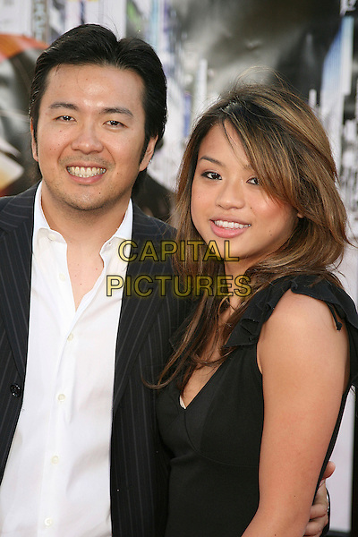 "JUSTIN LIN & WIFE.Los Angeles Premiere of ""The Fast and The Furious 3: Tokyo Drift"", Universal City, California, USA,.04 June 2006..half length director.Ref: ADM/BP.www.capitalpictures.com.sales@capitalpictures.com.©Byron Purvis/AdMedia/Capital Pictures."