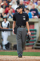 Umpire Paul Clemons during a Midwest League game between the Kane County Cougars and Clinton LumberKings at Fifth Third Ballpark on August 16, 2012 in Geneva, Illinois.  Kane County defeated Clinton 5-3.  (Mike Janes/Four Seam Images)
