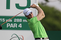 Roope Kakko (FIN) tees off the 15th tee during Thursday's Round 1 of the 2016 Portugal Masters held at the Oceanico Victoria Golf Course, Vilamoura, Algarve, Portugal. 19th October 2016.<br /> Picture: Eoin Clarke | Golffile<br /> <br /> <br /> All photos usage must carry mandatory copyright credit (&copy; Golffile | Eoin Clarke)