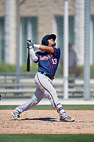 Minnesota Twins Kidany Salva (13) during a Minor League Spring Training game against the Tampa Bay Rays on March 15, 2018 at CenturyLink Sports Complex in Fort Myers, Florida.  (Mike Janes/Four Seam Images)