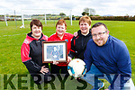 Paul Lenihan, with back l-r: Julie Looney, Teresa Bruton and Noreen Nagle are seeking over 35's soccer teams to enter the inaugural Joe Doyle memorial Over 35 soccer tournament to be held on May 19th