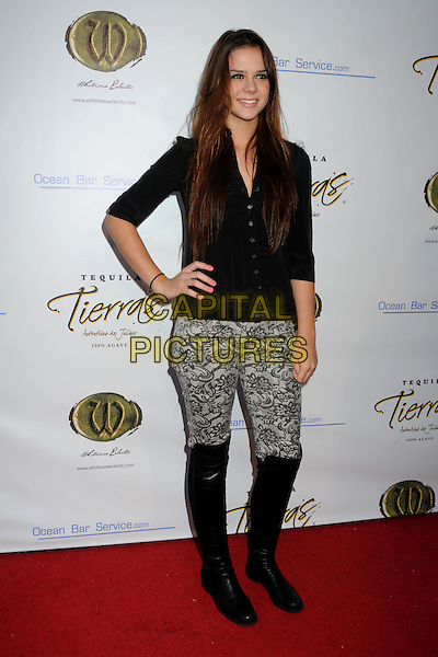 "GABRIELLE NEIERS.Sam Shephard's ""True West"" Play Opening and Launch of the Whitmore Eclectic Theater Company held at the Lyric Theater, Los Angeles, California, USA..September 9th, 2010.full length cardigan boots lace trousers beige black.CAP/ADM/BP.©Byron Purvis/AdMedia/Capital Pictures."